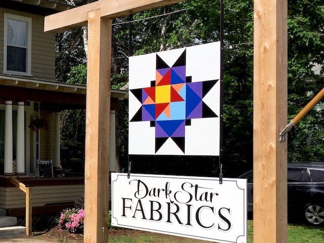 Dark Star Fabrics Sign