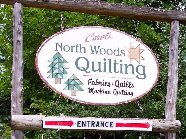 North Woods Quilting Sign