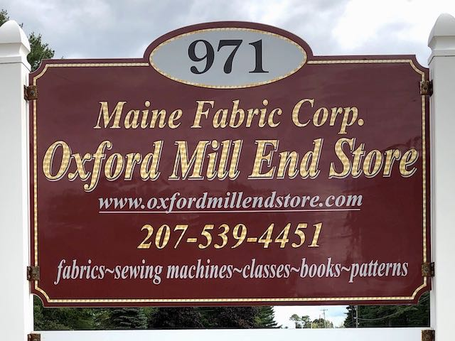 Oxford Mill End Store Sign