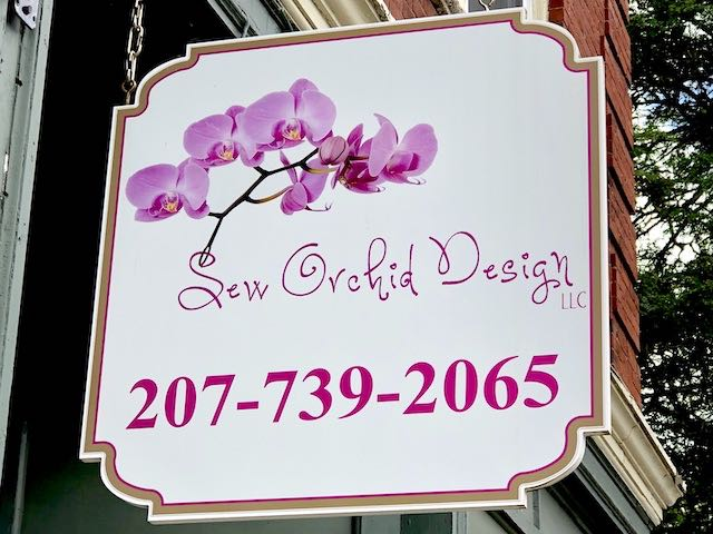 Sew Orchid Design Sign