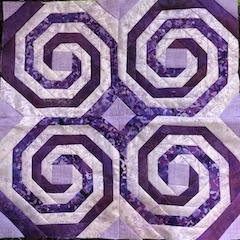 Dark Star Fabrics Swirl Block for Quilters